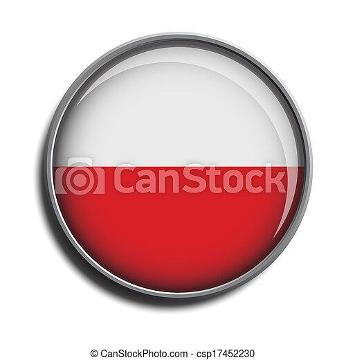 flag icon web button poland - csp17452230