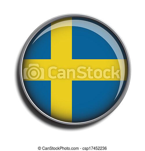 flag icon web button sweden - csp17452236