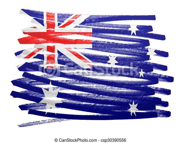 Flag illustration - Australia - csp30390556