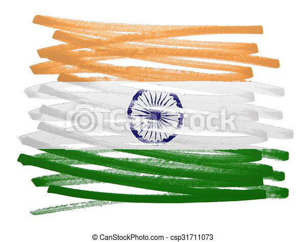 Flag illustration - India - csp31711073