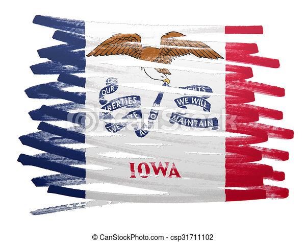 Flag illustration - Iowa - csp31711102