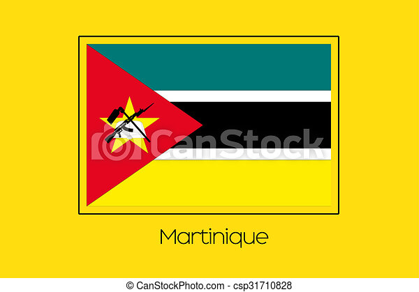 Flag Illustration of the country of Mozambique - csp31710828
