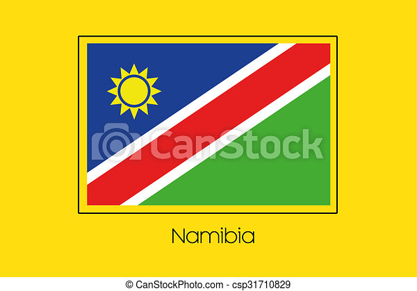 Flag Illustration of the country of Namibia - csp31710829