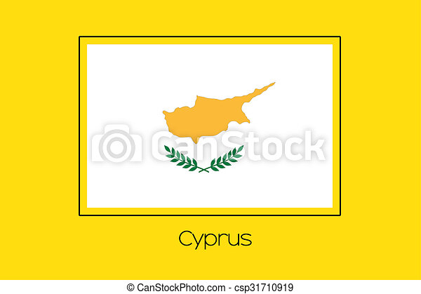 Flag Illustration of the country of Cyprus - csp31710919