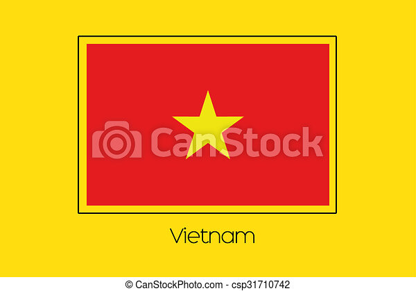 Flag Illustration of the country of Vietnam - csp31710742