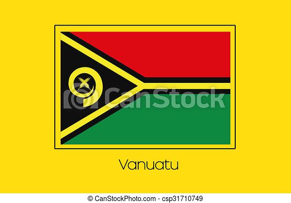 Flag Illustration of the country of Vanuatu - csp31710749