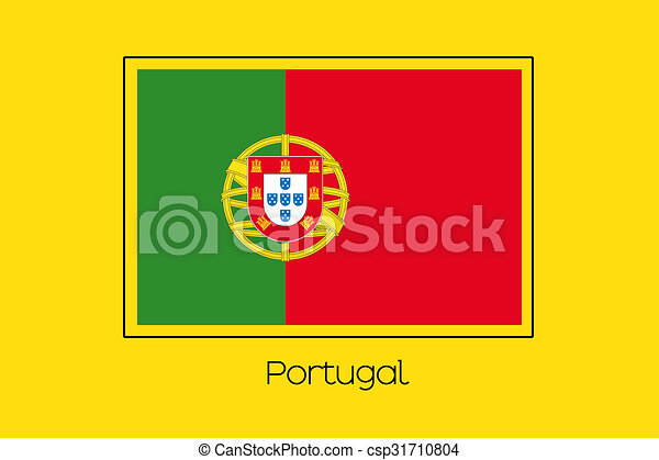 Flag Illustration of the country of Portugal - csp31710804