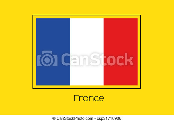 Flag Illustration of the country of France - csp31710906