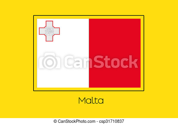 Flag Illustration of the country of Malta - csp31710837