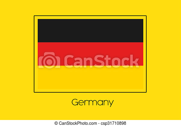 Flag Illustration of the country of Germany - csp31710898