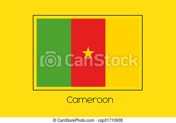 Flag Illustration of the country of Cameroon - csp31710938