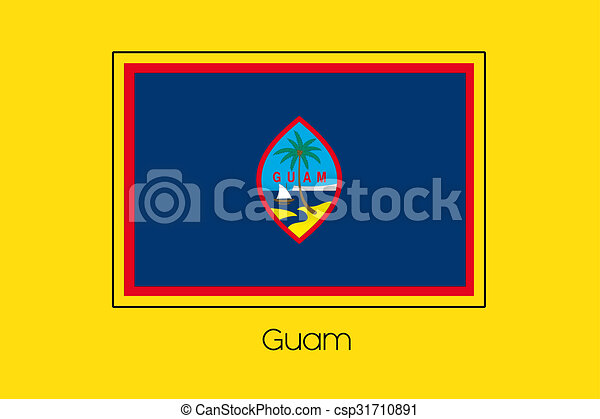 Flag Illustration of the country of Guam - csp31710891