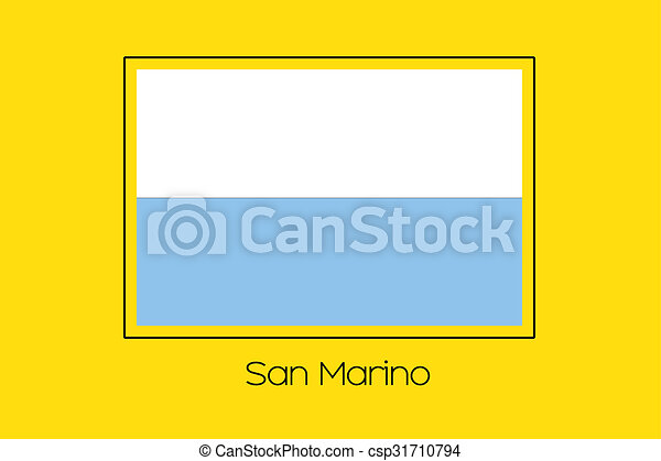 Flag Illustration of the country of San Marino - csp31710794