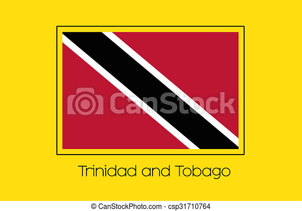 Flag Illustration of the country of Trinidad and Tobago - csp31710764