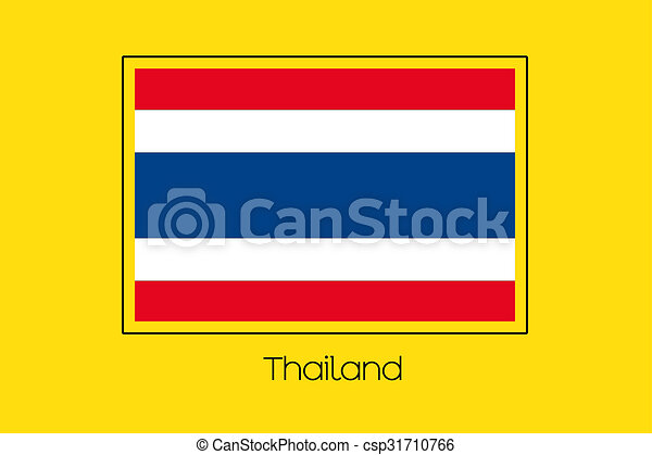 Flag Illustration of the country of Thailand - csp31710766