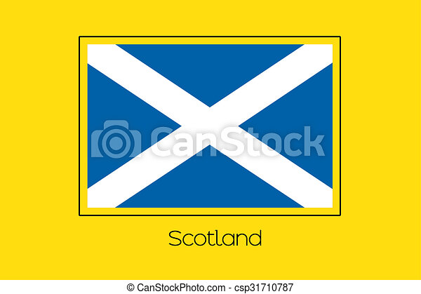 Flag Illustration of the country of Scotland - csp31710787