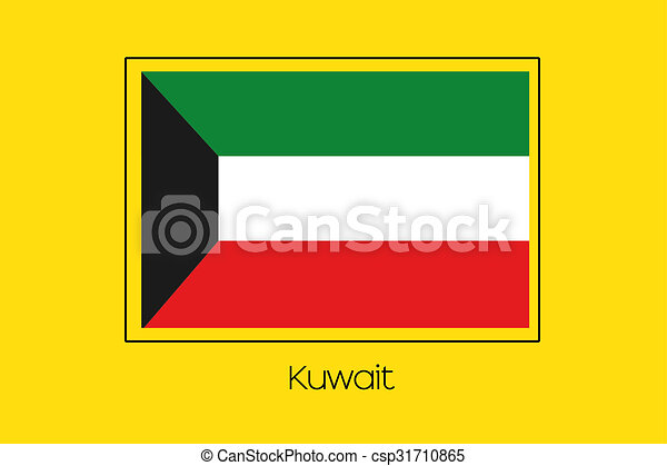 Flag Illustration of the country of Kuwait - csp31710865