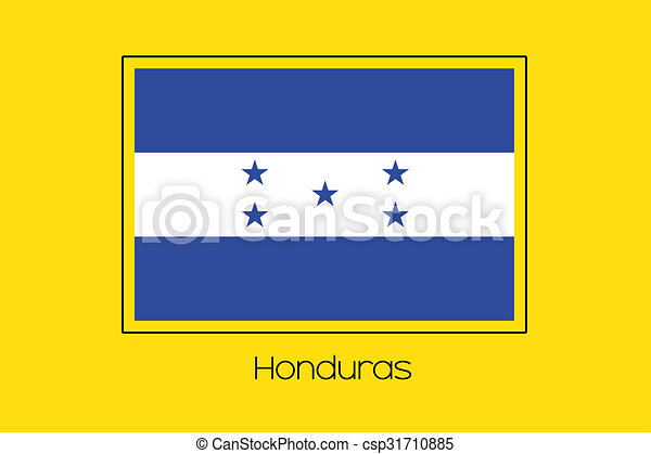 Flag Illustration of the country of Honduras - csp31710885
