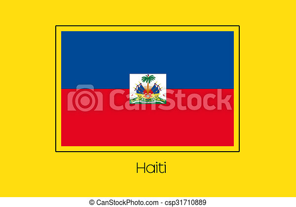 Flag Illustration of the country of Haiti - csp31710889