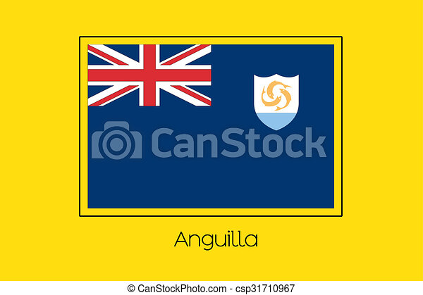 Flag Illustration of the country of Anguilla - csp31710967