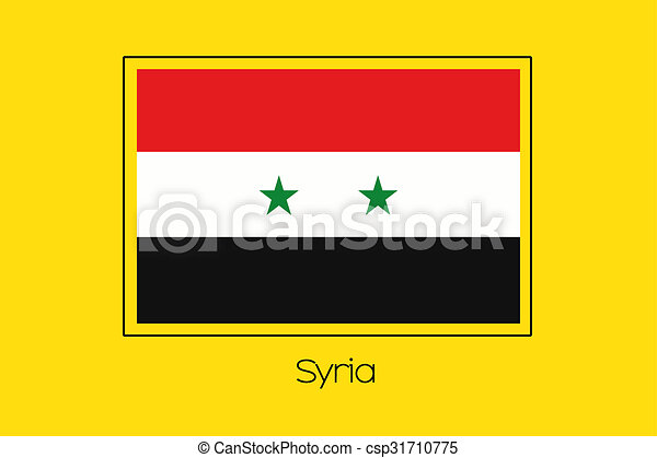 Flag Illustration of the country of Syria - csp31710775