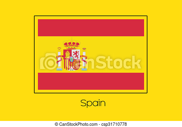 Flag Illustration of the country of Spain - csp31710778