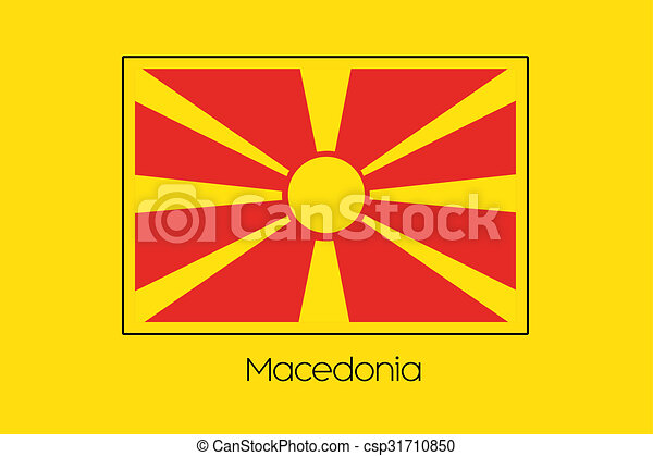 Flag Illustration of the country of Macedonia - csp31710850