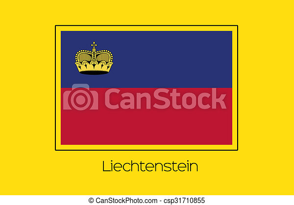 Flag Illustration of the country of Liechtenstein - csp31710855