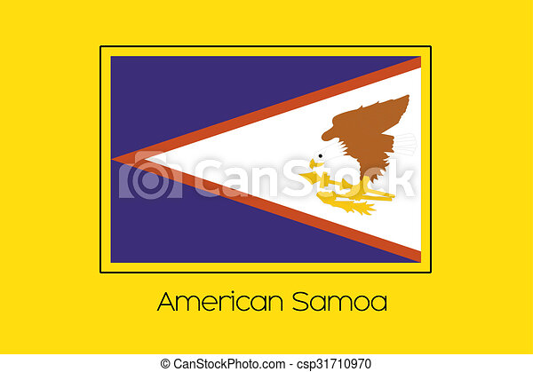 Flag Illustration of the country of American Samoa - csp31710970