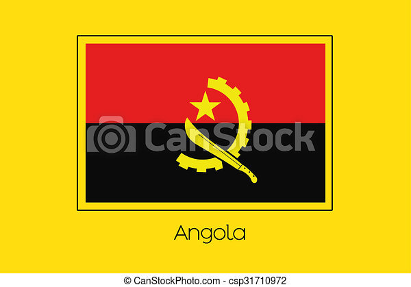 Flag Illustration of the country of Angola - csp31710972