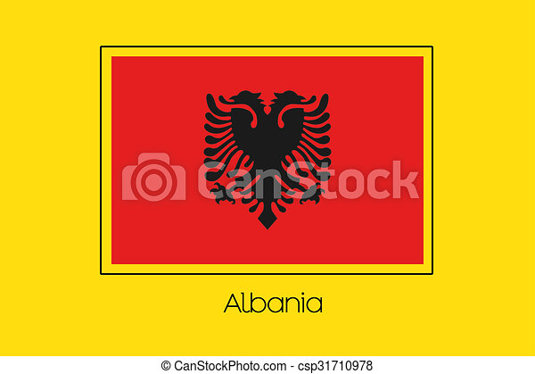 Flag Illustration of the country of Albania - csp31710978