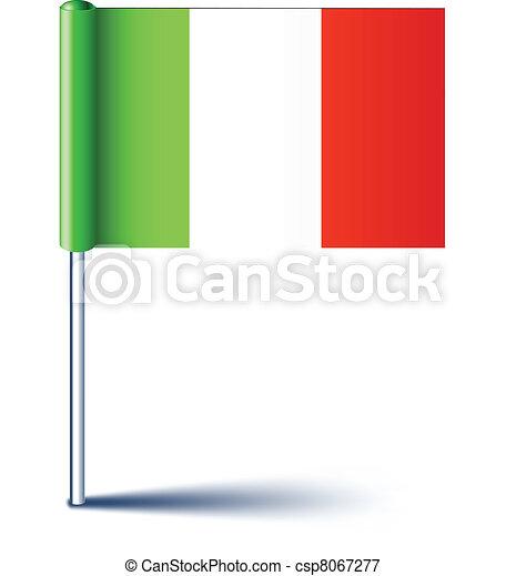 Bandera italiana. - csp8067277