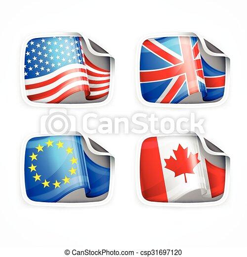 Flag labels - csp31697120