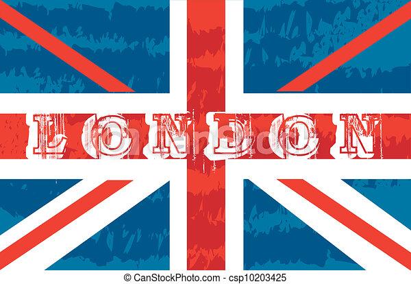 Grunge Flag London Background Vector Illustration