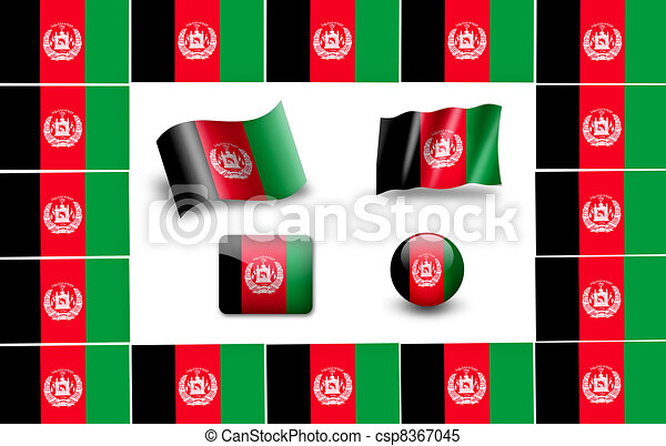 flag of afganistan - csp8367045