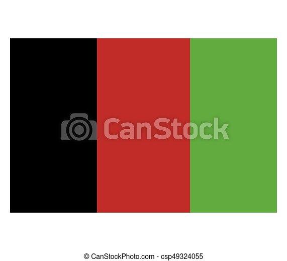 Flag of Afghanistan - csp49324055