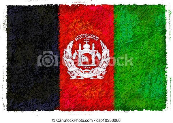 Flag of Afghanistan - csp10358068
