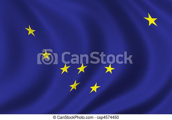 Flag of Alaska - csp4574450