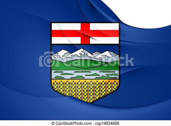 Flag of Alberta, Canada. - csp19834668