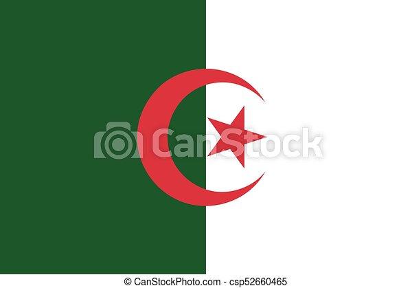 Flag of Algeria - csp52660465