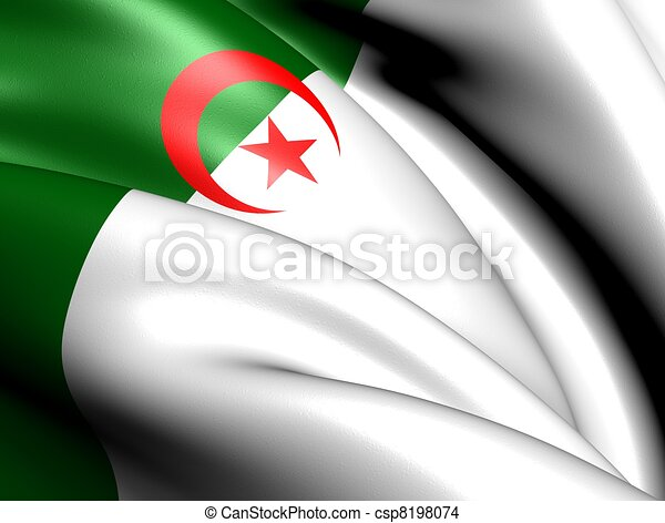 Flag of Algeria - csp8198074