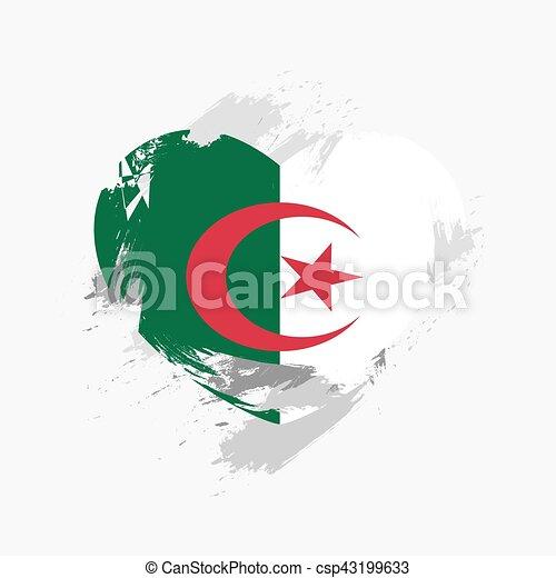 Flag of Algeria - csp43199633