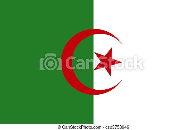 Flag of Algeria - csp3753946