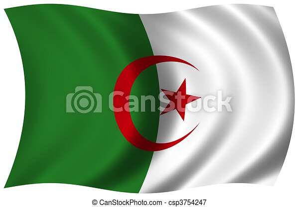 Flag of Algeria - csp3754247