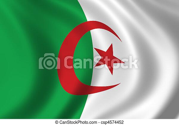 Flag of Algeria - csp4574452