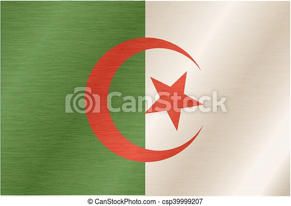 Flag of Algeria - csp39999207