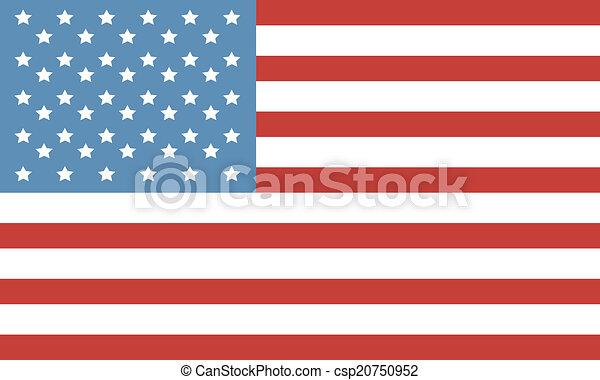 Flag Of America - csp20750952