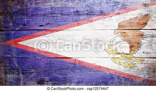 Flag of American Samoa - csp12574447