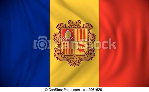 Flag of Andorra - csp29616261