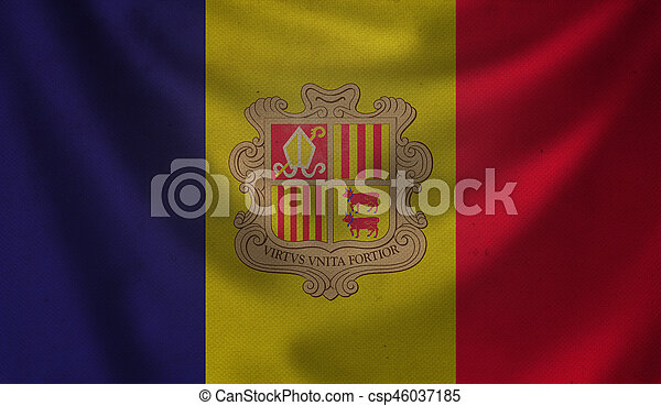Flag of Andorra. - csp46037185